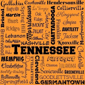 Tennessee cities, orange