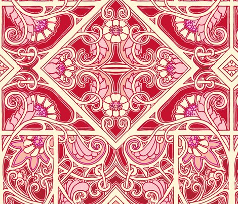 Hearts and Flowers Valentine Crap fabric by edsel2084 on Spoonflower - custom fabric