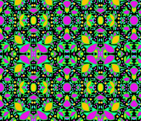 Crabby Fish On Black 1 fabric by tabasamu_design on Spoonflower - custom fabric