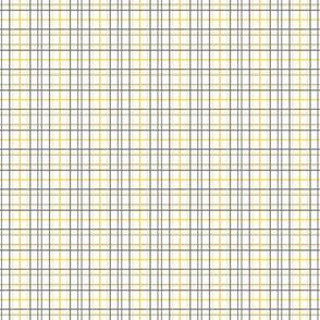 White Gray Yellow Tattersall Plaid