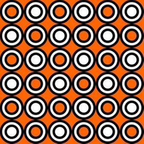70s circles black orange