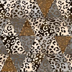 Leopard skin.