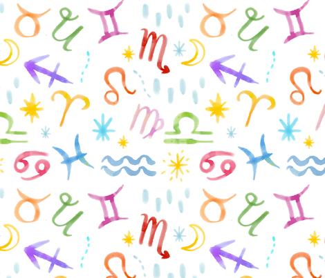 zodiac 2 fabric by wandering_stars on Spoonflower - custom fabric