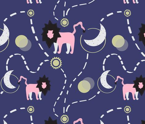 Leo Stars fabric by alicemoore on Spoonflower - custom fabric