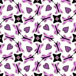 ButterflyHeartsWhite
