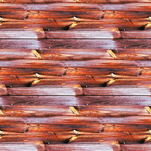 Planches de bois rouge - Wood boards red (horizontal)