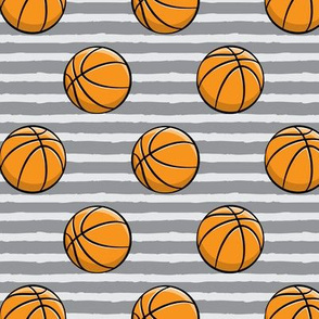Basketballs - Grey Stripes - Sports
