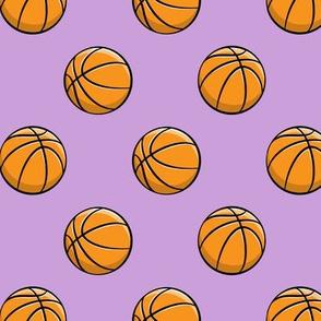 Basketballs - Purple - Sports