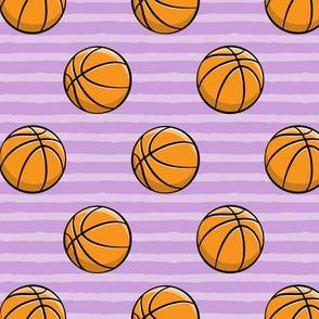 Basketballs -  Purple Stripes - Sports
