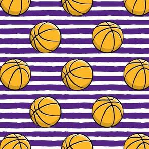 Basketball - Purple Stripes -  Sports
