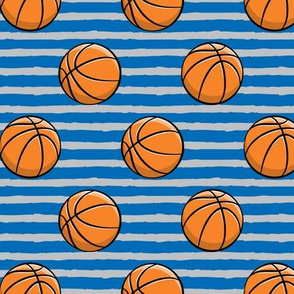 Basketball - Blue and Grey Stripes -  Sports
