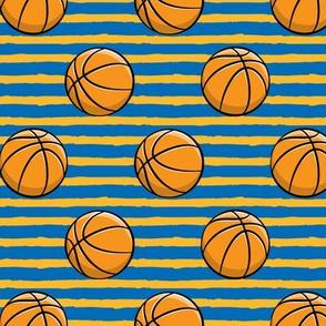 Basketball -  Blue and Orange Stripes -  Sports