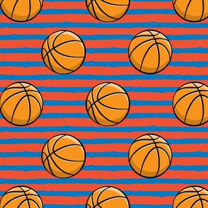 Basketball - Red and Blue Stripes -  Sports