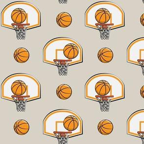 Basketball & Hoops - Beige - Sports Themed