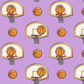 Basketball & Hoops - Light Purple - Sports Themed
