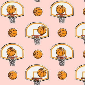 Basketball & Hoops - Pink - Sports Themed