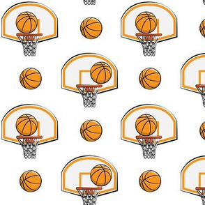 Basketball & Hoops - White - Sports Themed