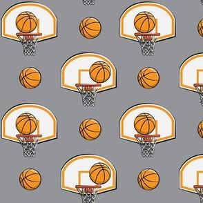 Basketball & Hoops - Grey - Sports Themed