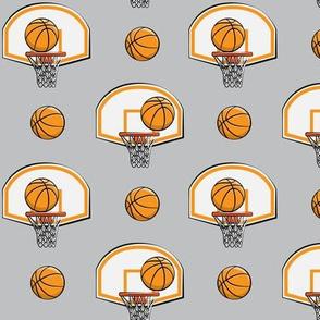Basketball & Hoops - Light Grey - Sports Themed