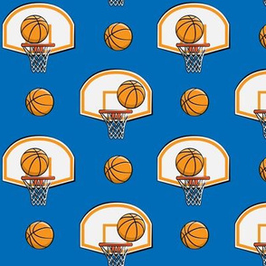 Basketball & Hoops - Blue - Sports Themed