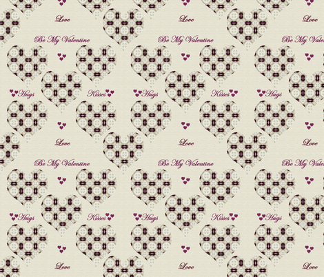 Hugs and Kisses repeat fabric by kickyc on Spoonflower - custom fabric