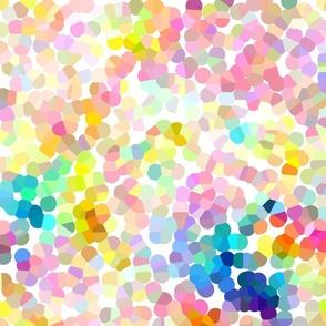 Rainbow Cloud Pointillism