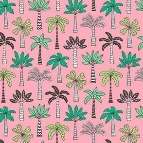 Palm Trees on Pink Smaller 2 inch