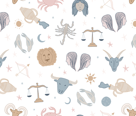 Astrological Signs fabric by alexispdesigns on Spoonflower - custom fabric