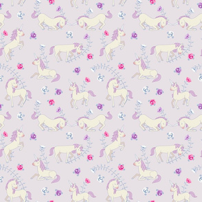 Floral Unicorns: Pink
