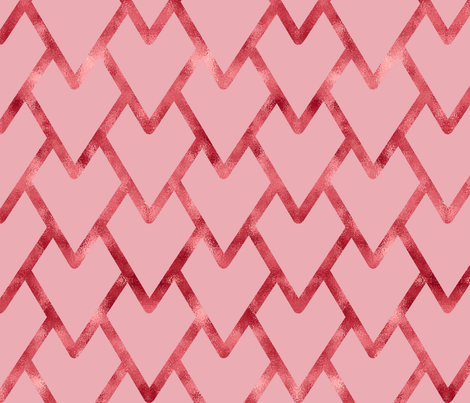 Artistic Rose Gold Hearts for Valentine's Day fabric fabric by danadu on Spoonflower - custom fabric