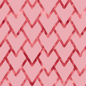 Artistic Rose Gold Hearts for Valentine's Day fabric
