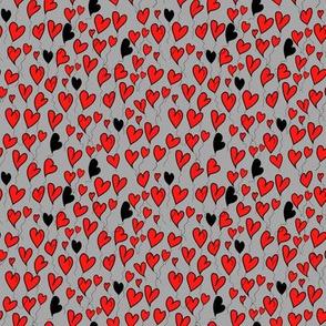 Be my valentine on light grey background