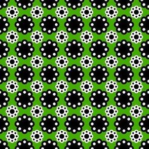 70s flowers black green