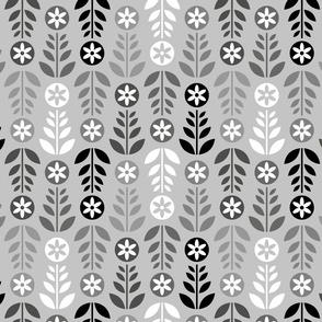 Scandinavian Flowers Silver