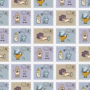Quartz Crystal Magic Postage Stamps