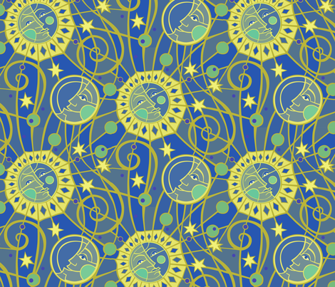 Celestial fabric by lily_studio on Spoonflower - custom fabric