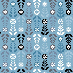 Scandinavian Flowers Blue