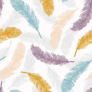 Sacred Bird Feathers Tumbling