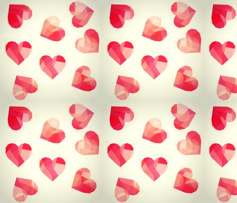 Falling Hearts 2 fabric by kohatupatterns on Spoonflower - custom fabric