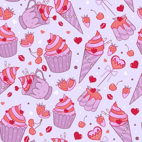 Rockabilly sweets  fabric by elena_naylor on Spoonflower - custom fabric