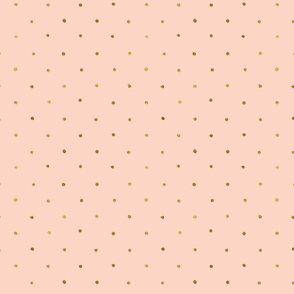 Dots Gold on Blush Pink - S Polka Dot
