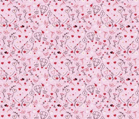Valentine fabric by elena_naylor on Spoonflower - custom fabric