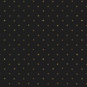Dots Gold on Black - S Polka Dot