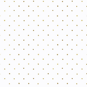 Dots Gold on White - S Polka Dot