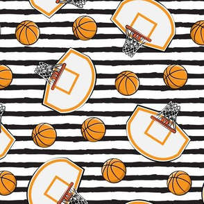 Basketball & Hoops - Black Stripes Toss - Sports Themed