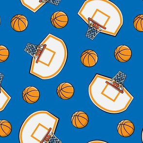 Basketball & Hoops - Blue Toss - Sports Themed