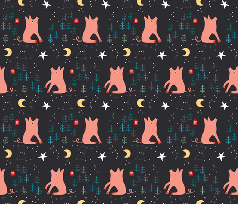2019 Year of the pig_©Solvejg Makaretz-01 fabric by solvejg on Spoonflower - custom fabric