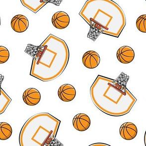 Basketball & Hoops - White Toss - Sports Themed