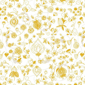 Gold and White Chinoiserie