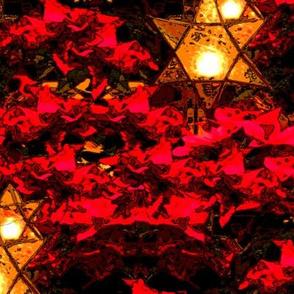 Shining Star Luminaries and Red Poinsettias